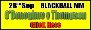 2019 Blackball: O Donoghue v Thompson, Match Page